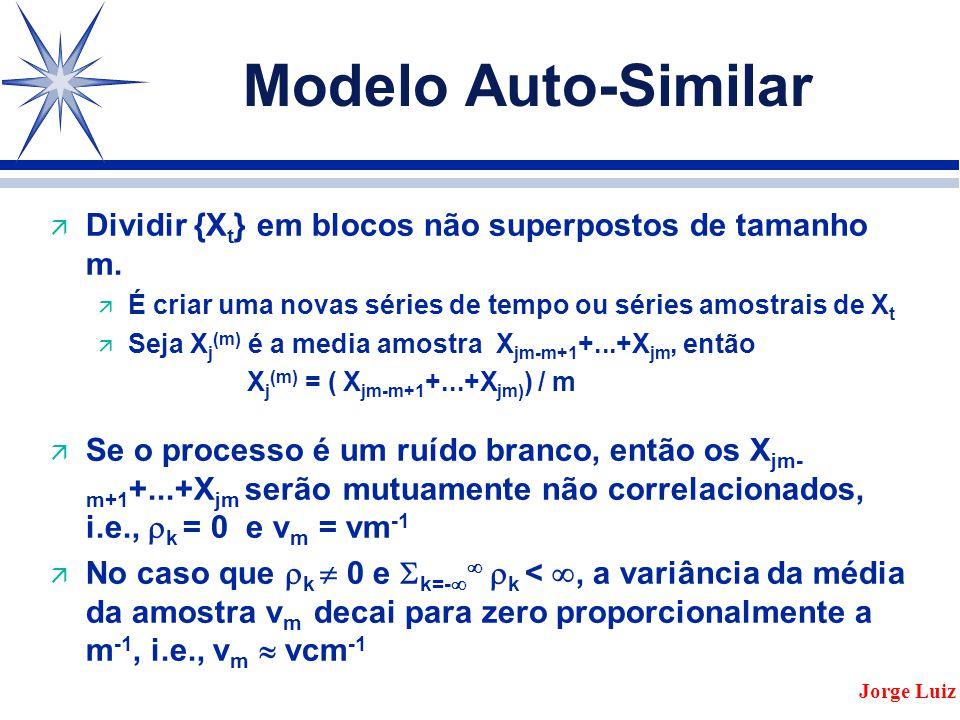 Modelo Auto-Similar ä Dividir {X t } em blocos não superpostos de tamanho m.