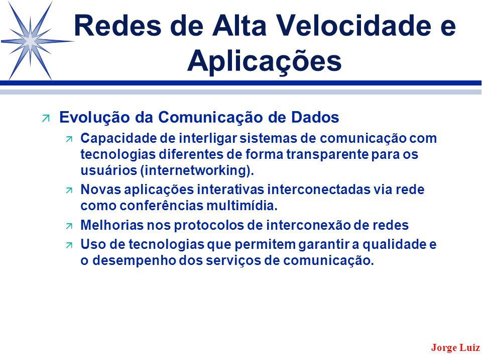 Redes de Alta Velocidade e Aplicações ä Evolução da Comunicação de Dados ä Capacidade de interligar sistemas de comunicação com tecnologias diferentes de forma transparente para os usuários (internetworking).