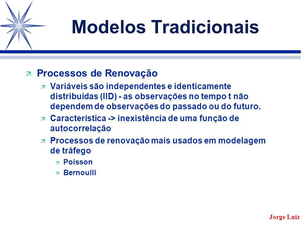 Modelos Tradicionais ä Processos de Renovação ä Variáveis são independentes e identicamente distribuídas (IID) - as observações no tempo t não dependem de observações do passado ou do futuro.