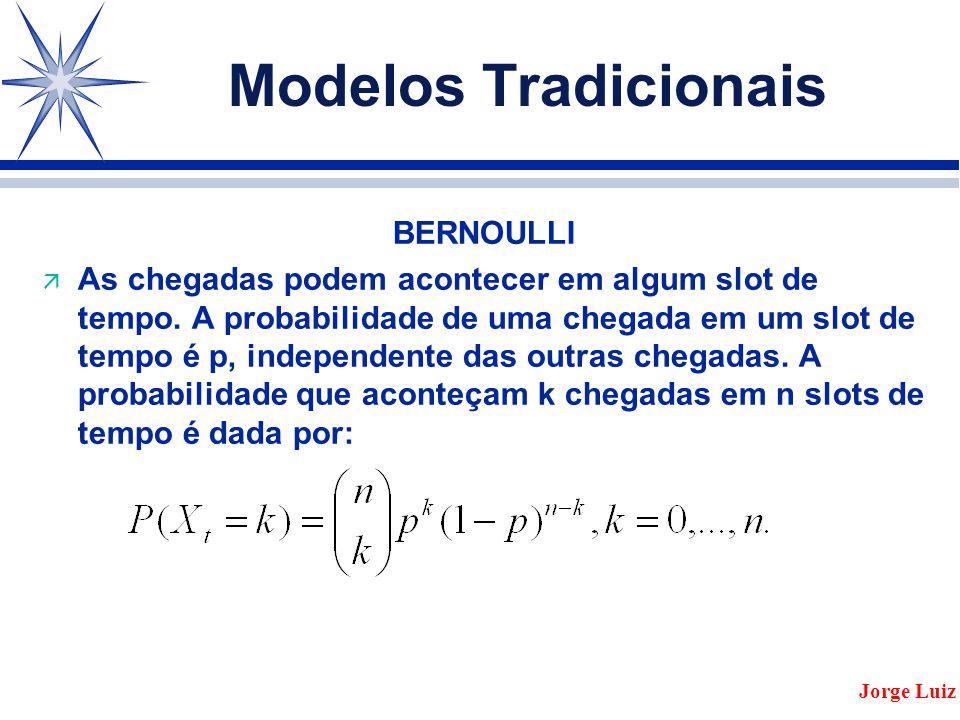 Modelos Tradicionais BERNOULLI ä As chegadas podem acontecer em algum slot de tempo.