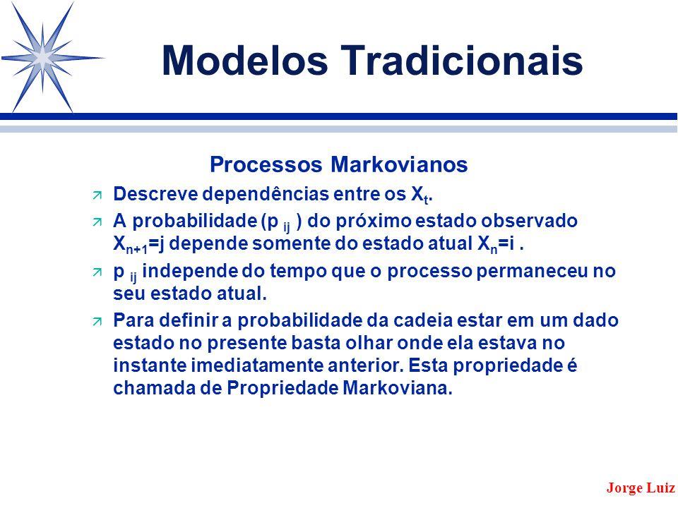 Modelos Tradicionais Processos Markovianos ä Descreve dependências entre os X t.