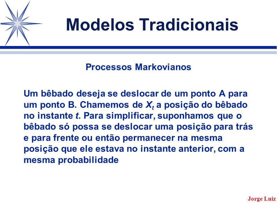 Modelos Tradicionais Processos Markovianos Um bêbado deseja se deslocar de um ponto A para um ponto B.