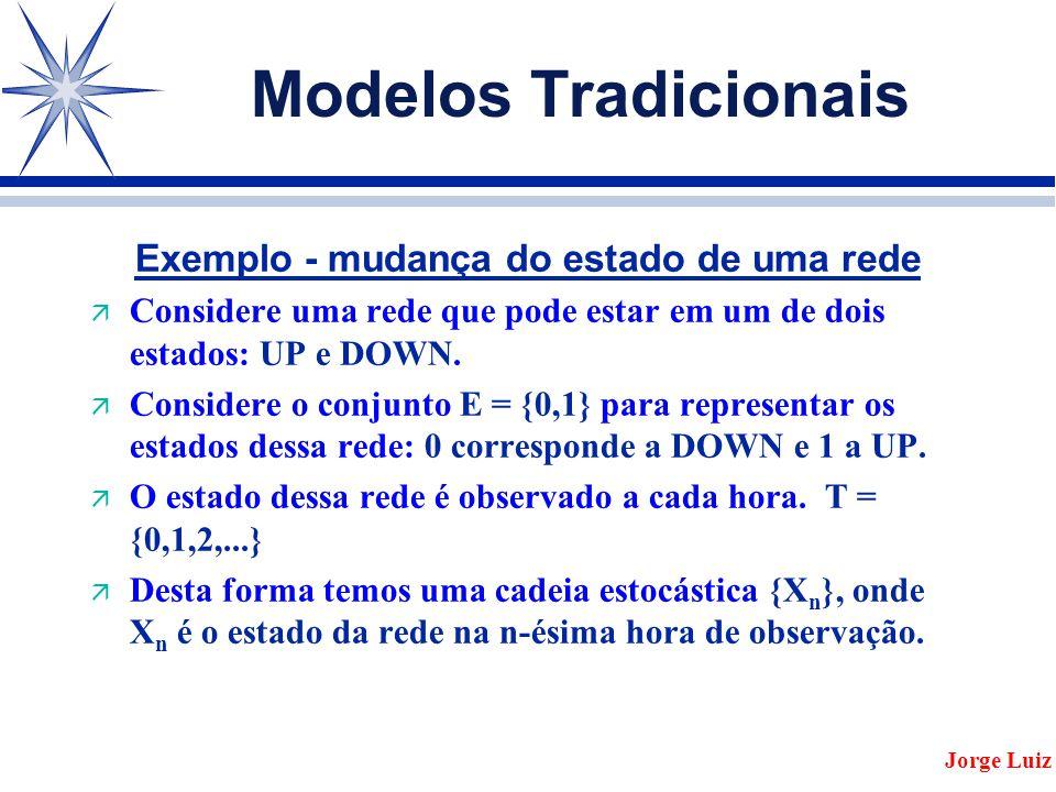 Modelos Tradicionais Exemplo - mudança do estado de uma rede ä Considere uma rede que pode estar em um de dois estados: UP e DOWN.