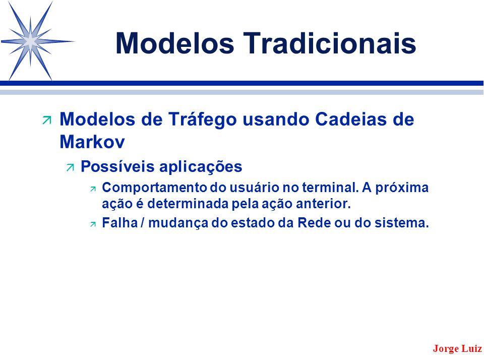 Modelos Tradicionais ä Modelos de Tráfego usando Cadeias de Markov ä Possíveis aplicações ä Comportamento do usuário no terminal.