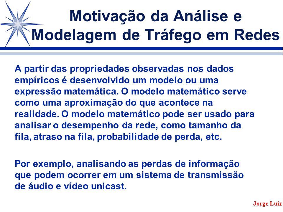 5 a Parte Modelos para Modelar Tráfego Jorge Luiz
