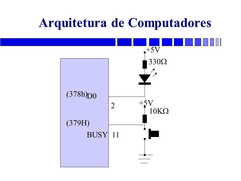 Arquitetura de Computadores D0 2 BUSY 11 (378h) (379H) 330  10K  +5V