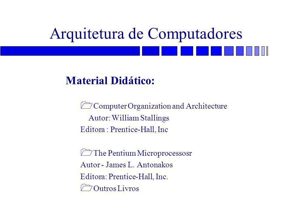Arquitetura do Pentium = Dois pipelines de 5 estágios: U e V –Estágios »PF - prefetch »D1 - instruction decode »D2 - address generate »EX - execute, cache, ALU access »WB - writeback