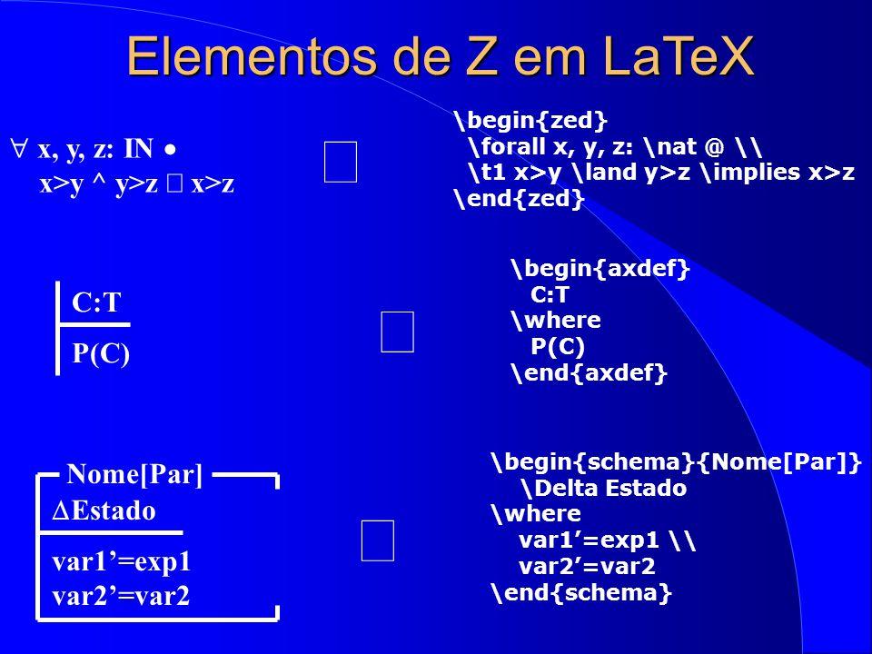 Exercícios 1) Incluir os seguintes elementos no conjunto: joao , maria , pedro executando a INCLUSAO 2) Tentar incluir mais um elemento 3) Verificar se maria está presente executando a operação CONSULTA 4) Deletar joao executando EXCLUSAO 5) Deletar carla executando EXCLUSAO 6) Especificar uma nova operação para remoção randômica 7) Carregar a especificação e tentar executar esta operação 8) Definir PESSOA como um registro, com atributos matrícula, nome, redefinir as operações de inclusão, exclusão e consulta
