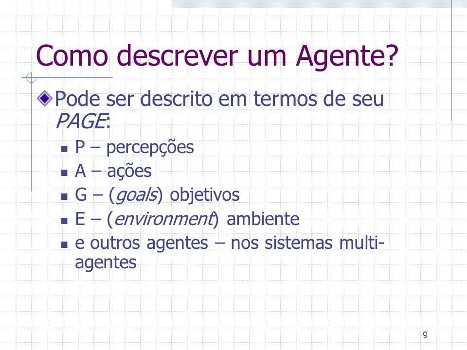 9 Como descrever um Agente.