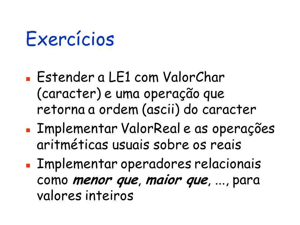Apresentação da Linguagem de Expressões 1 - LE1 http://www.cin.ufpe.br/~in1007