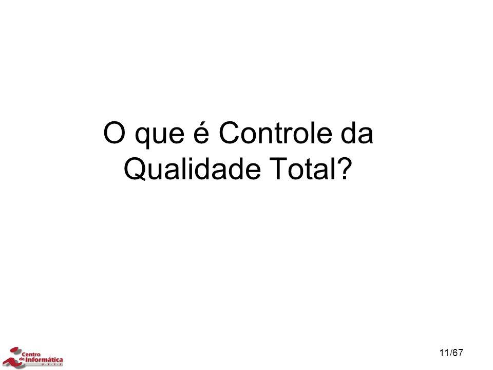 O que é Controle da Qualidade Total? 11/67