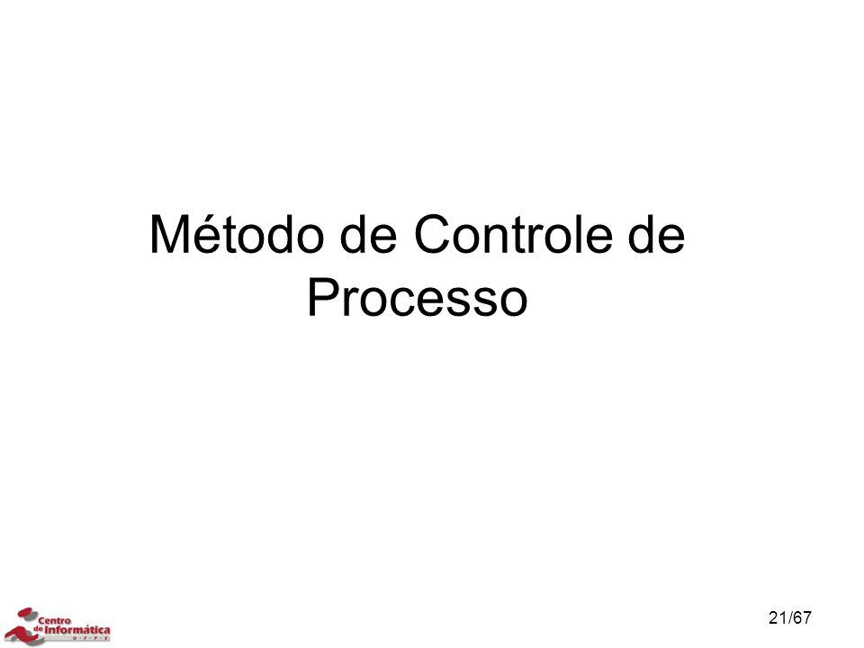 Método de Controle de Processo 21/67