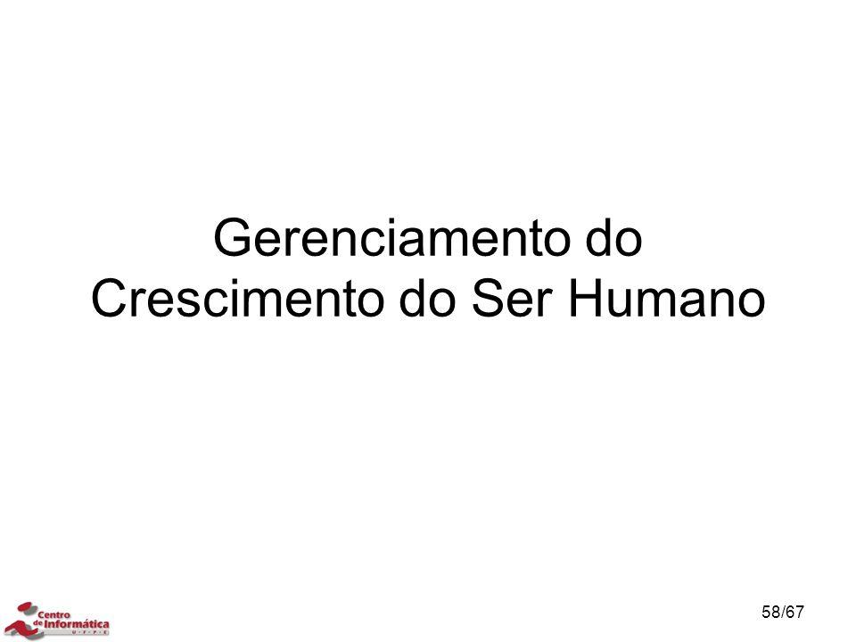 Gerenciamento do Crescimento do Ser Humano 58/67