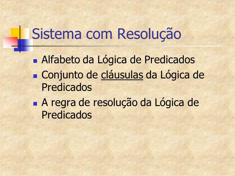 Exemplo de Prova por resolução (cont.) Agora, é só fazer a expansão por resolução.