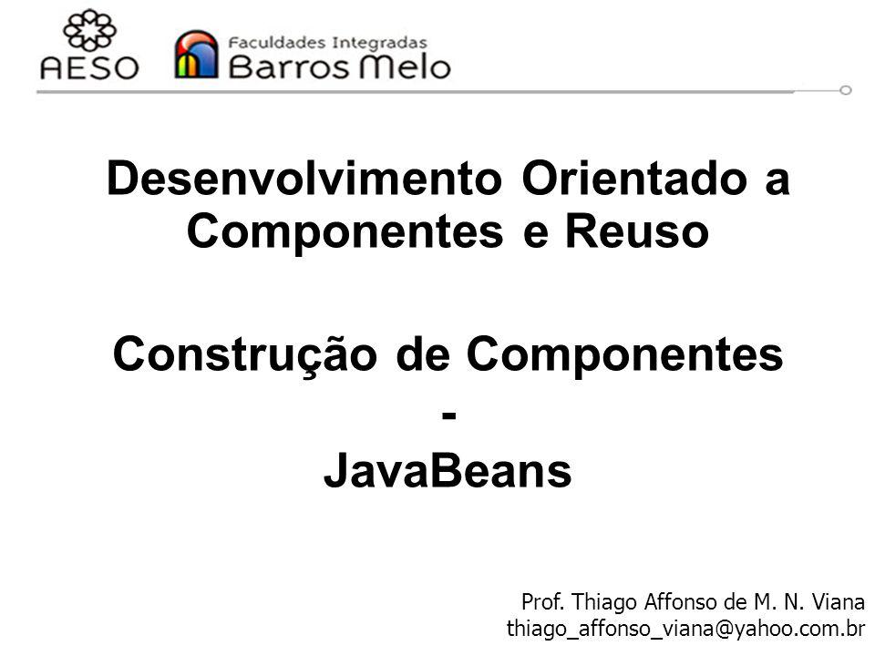 Desenvolvimento Orientado a Componentes e Reuso Construção de Componentes - JavaBeans Prof.