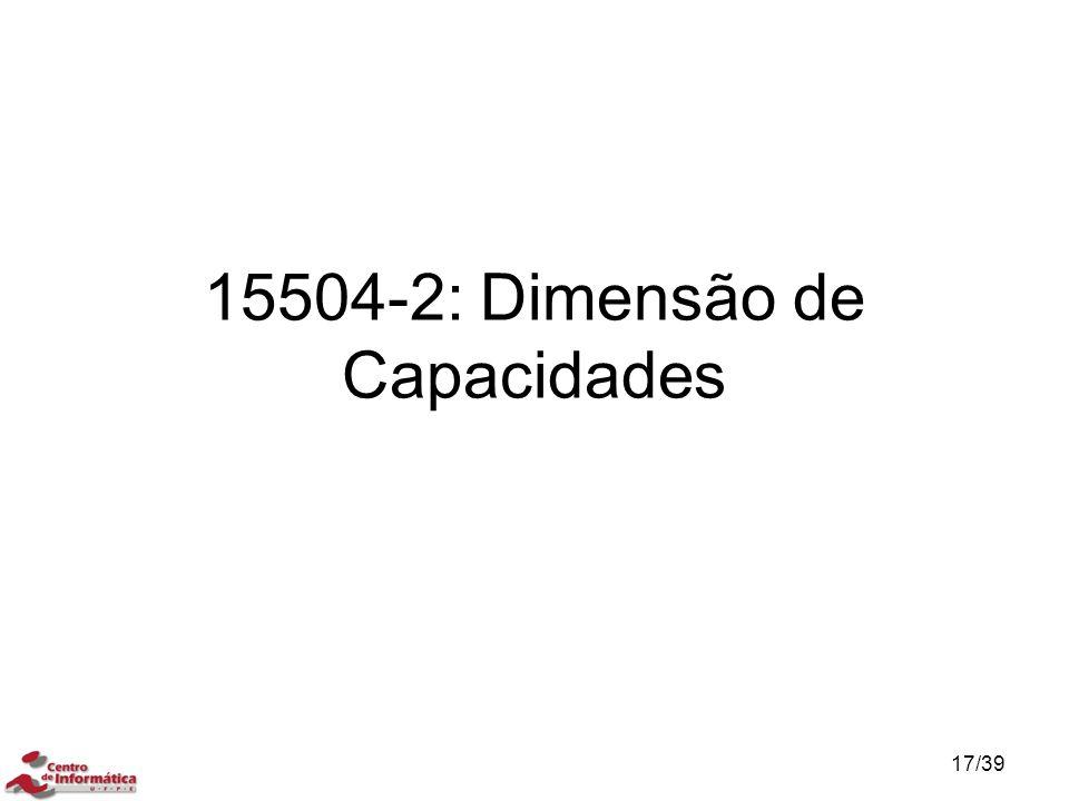 15504-2: Dimensão de Capacidades 17/39