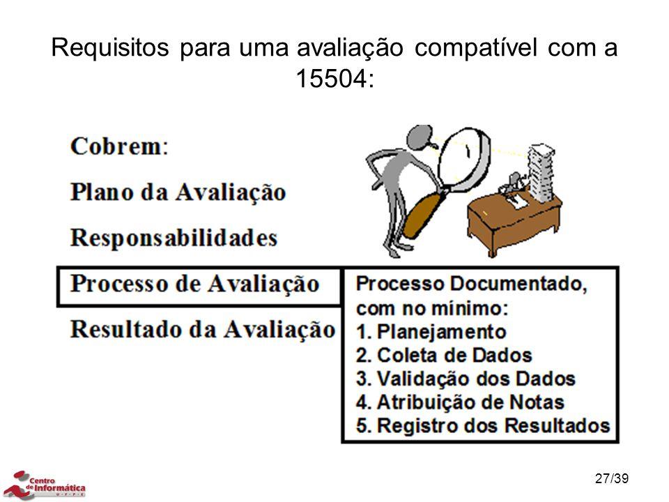 Requisitos para uma avaliação compatível com a 15504: 27/39