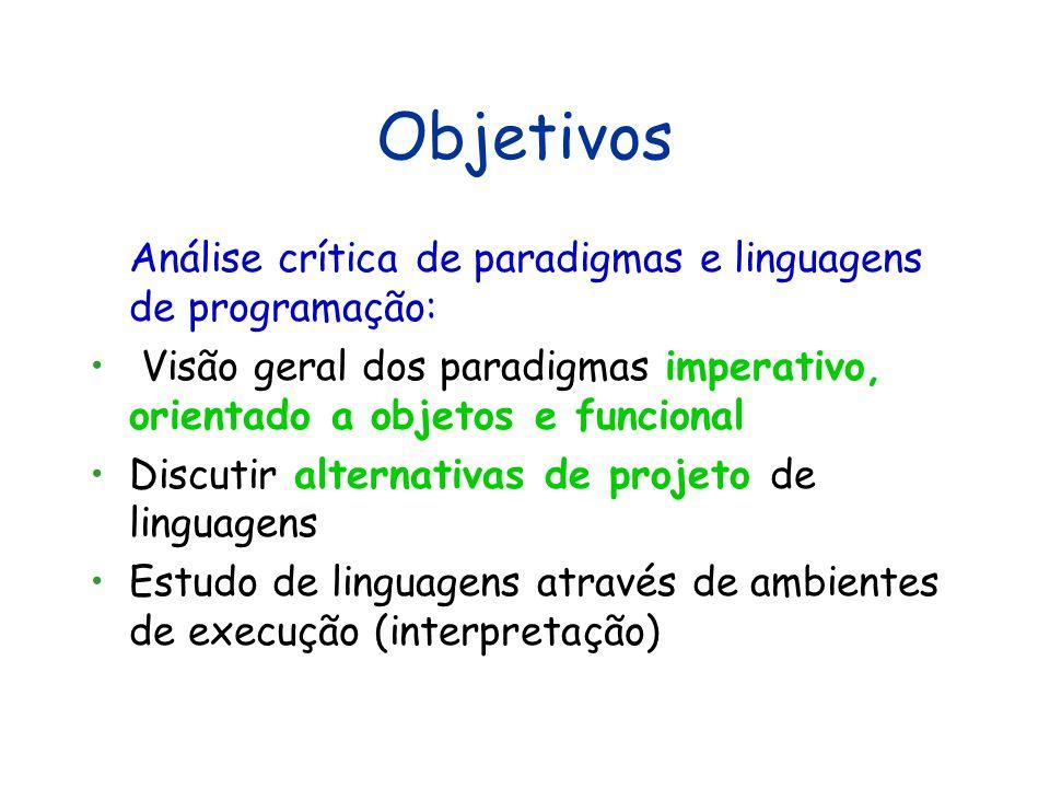 Paradigmas de Linguagens de Programação Augusto Sampaio acas@cin.ufpe.br http://www.cin.ufpe.br/~acas Recife, primeiro semestre de 2013