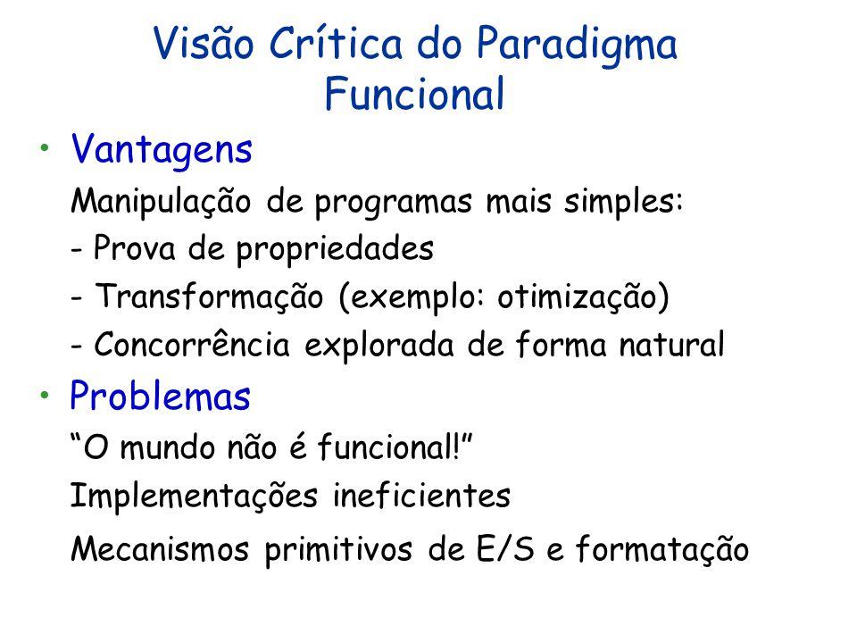 Modelo Computacional do Paradigma Funcional Entrada Programa Saída