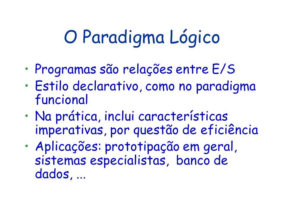 Visão Crítica do Paradigma Funcional Vantagens Manipulação de programas mais simples: - Prova de propriedades - Transformação (exemplo: otimização) -