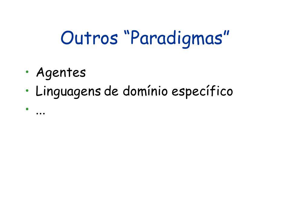 Visão Crítica do Paradigma Lógico Vantagens Em princípio, todas do paradigma funcional Permite concepção da aplicação em um alto nível de abstração (a