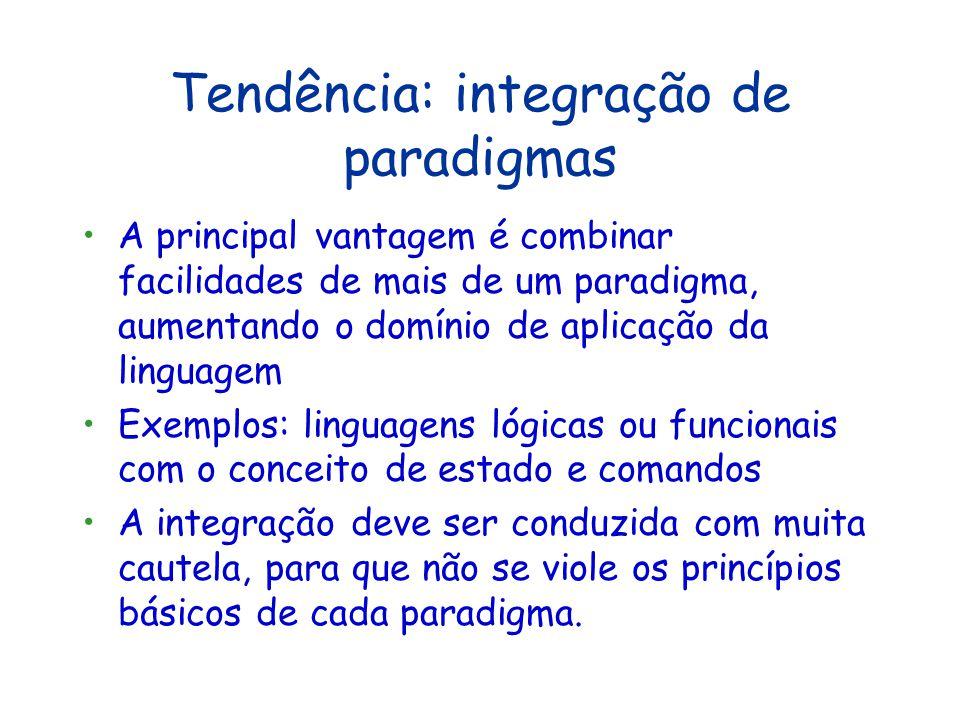 Outros Paradigmas Agentes Linguagens de domínio específico...