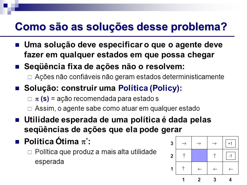 Funções de Utilidade para Problemas Seqüenciais Como definir funções de utilidade para problemas seqüenciais.