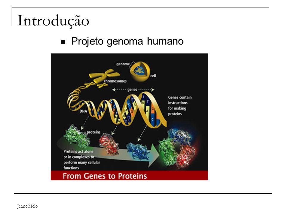 Jeane Melo Introdução Proteínas  Metabolismo, suporte de filamentos, catálise bioquímica, regulação do volume celular e imunização