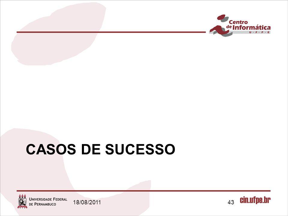 18/08/201143 CASOS DE SUCESSO