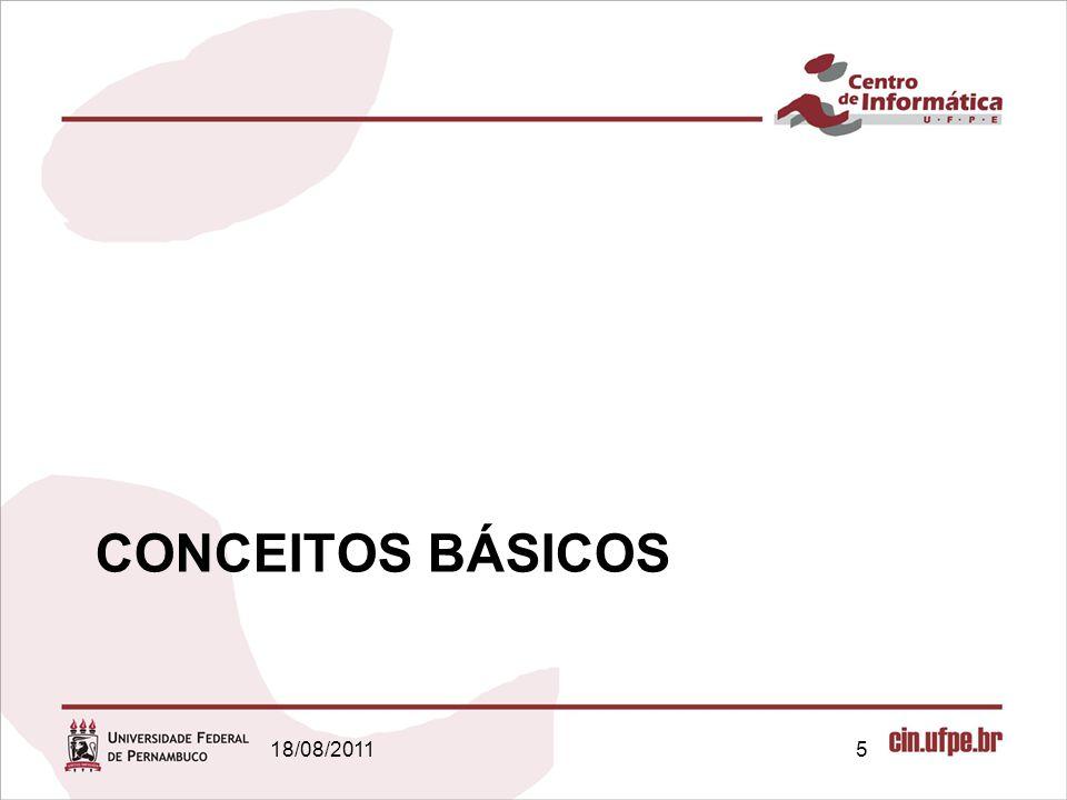 18/08/20115 CONCEITOS BÁSICOS