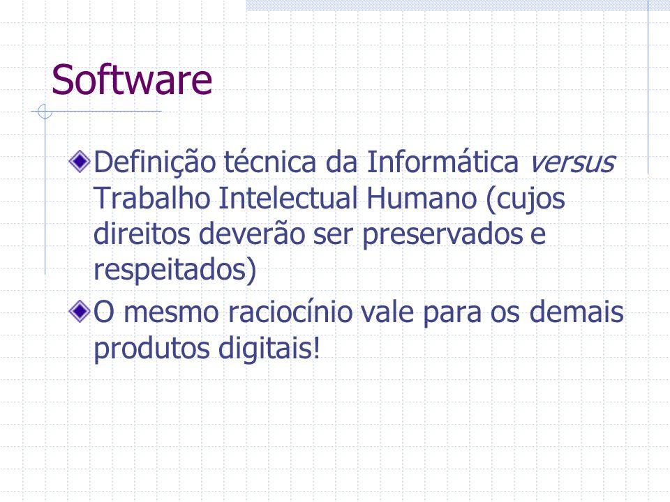 ICMS em software/produtos digitais Após adentrar no mercado, o valor econômico do software está no utilizar Cópia ilegal => Crime de Pirataria Cópia Legal => Acesso ao direito de uso dentro da Lei Cessão de Direitos é bem.
