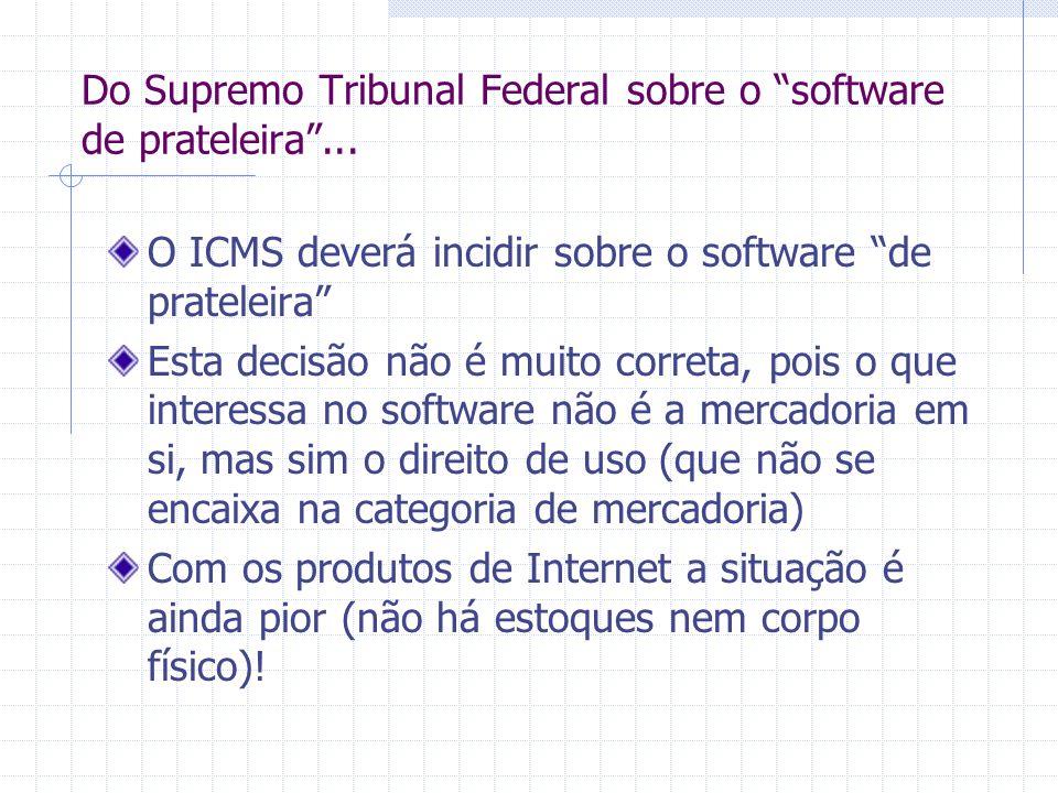 Portanto Software não é bem corpóreo nem mercadoria Produtos digitais não se encaixam no conceito de que mercadoria é um bem corpóreo......
