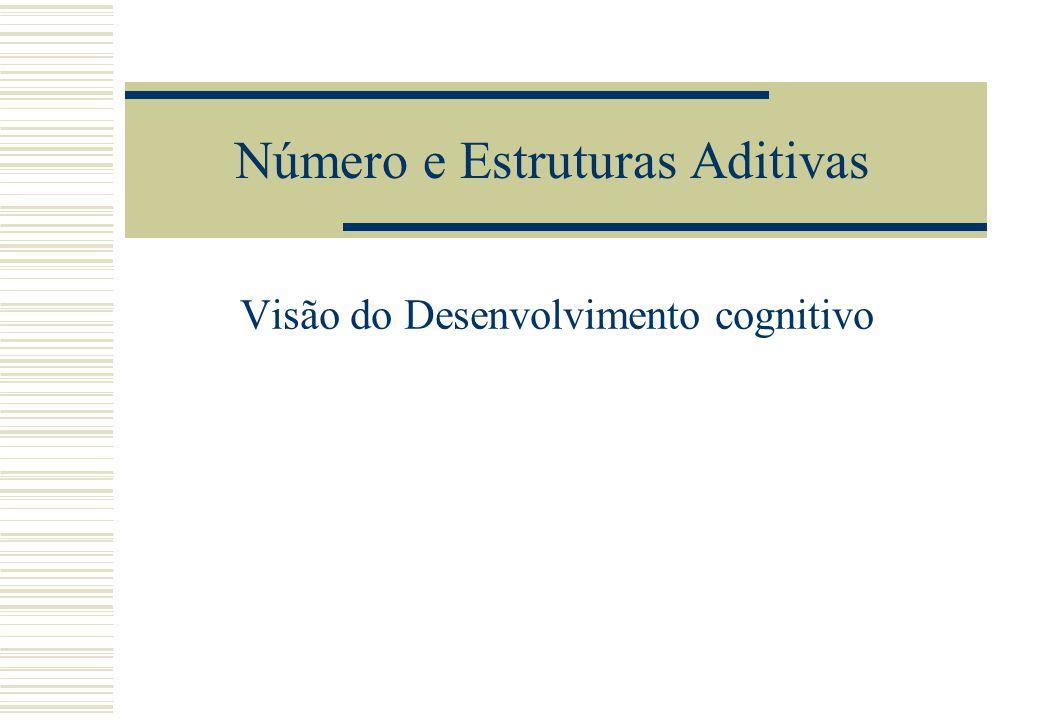 Número e Estruturas Aditivas Visão do Desenvolvimento cognitivo