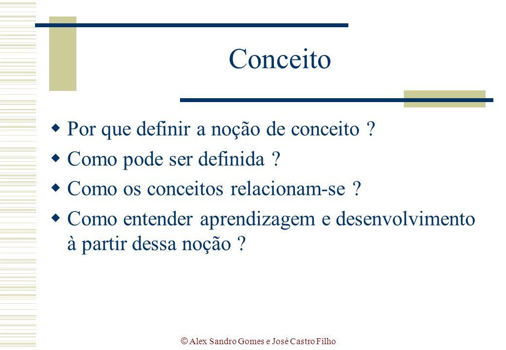 © Alex Sandro Gomes e José Castro Filho Conceito  Por que definir a noção de conceito ?  Como pode ser definida ?  Como os conceitos relacionam-se