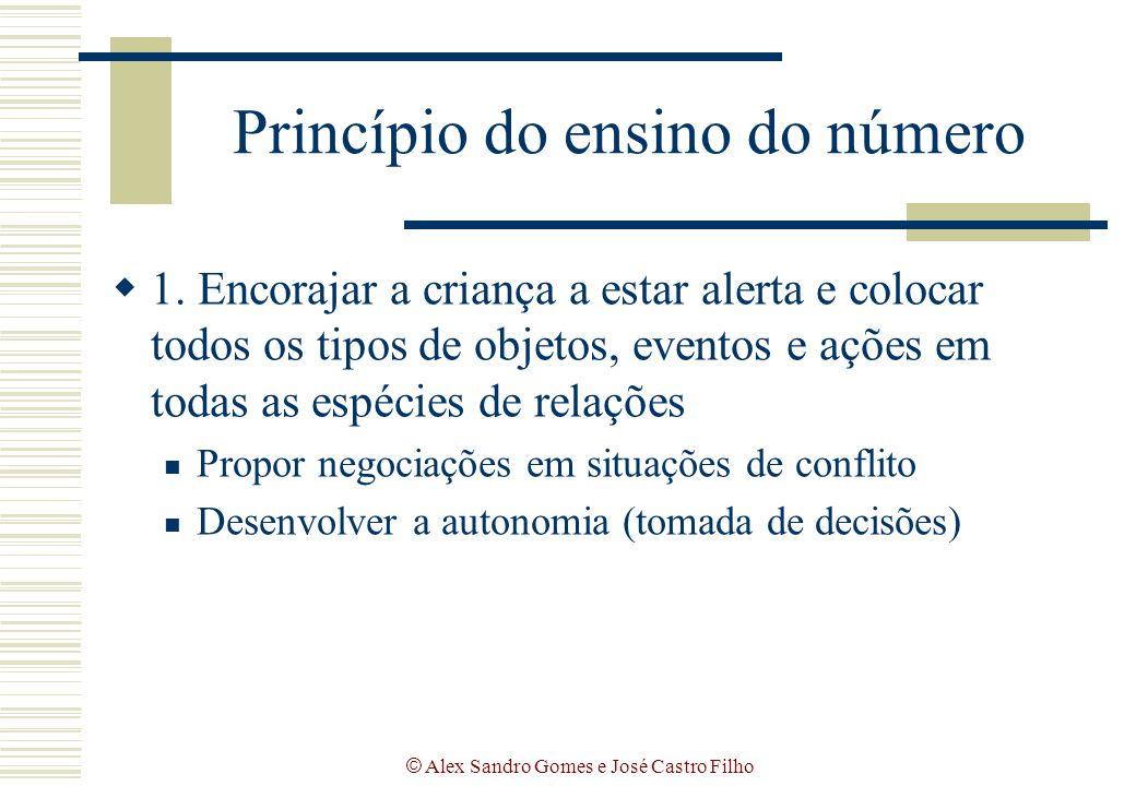 © Alex Sandro Gomes e José Castro Filho Princípio do ensino do número  1. Encorajar a criança a estar alerta e colocar todos os tipos de objetos, eve