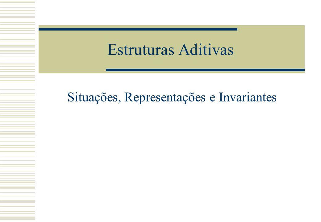 Estruturas Aditivas Situações, Representações e Invariantes