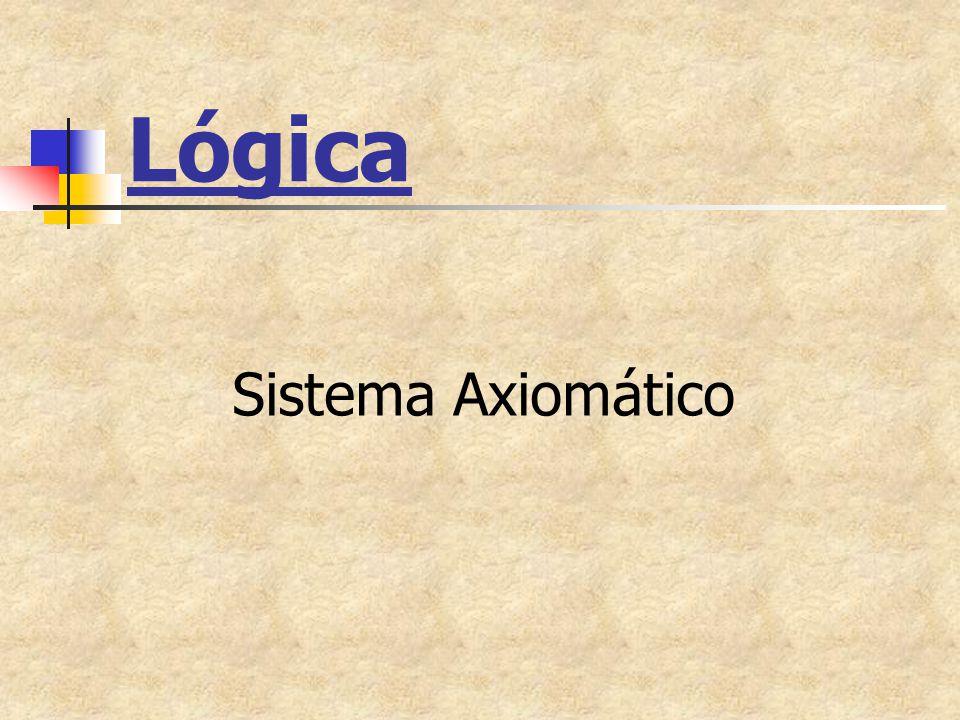Lógica Sistema Axiomático