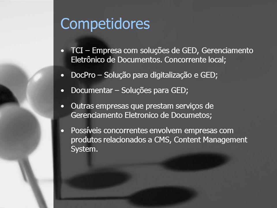 Competidores TCI – Empresa com soluções de GED, Gerenciamento Eletrônico de Documentos.