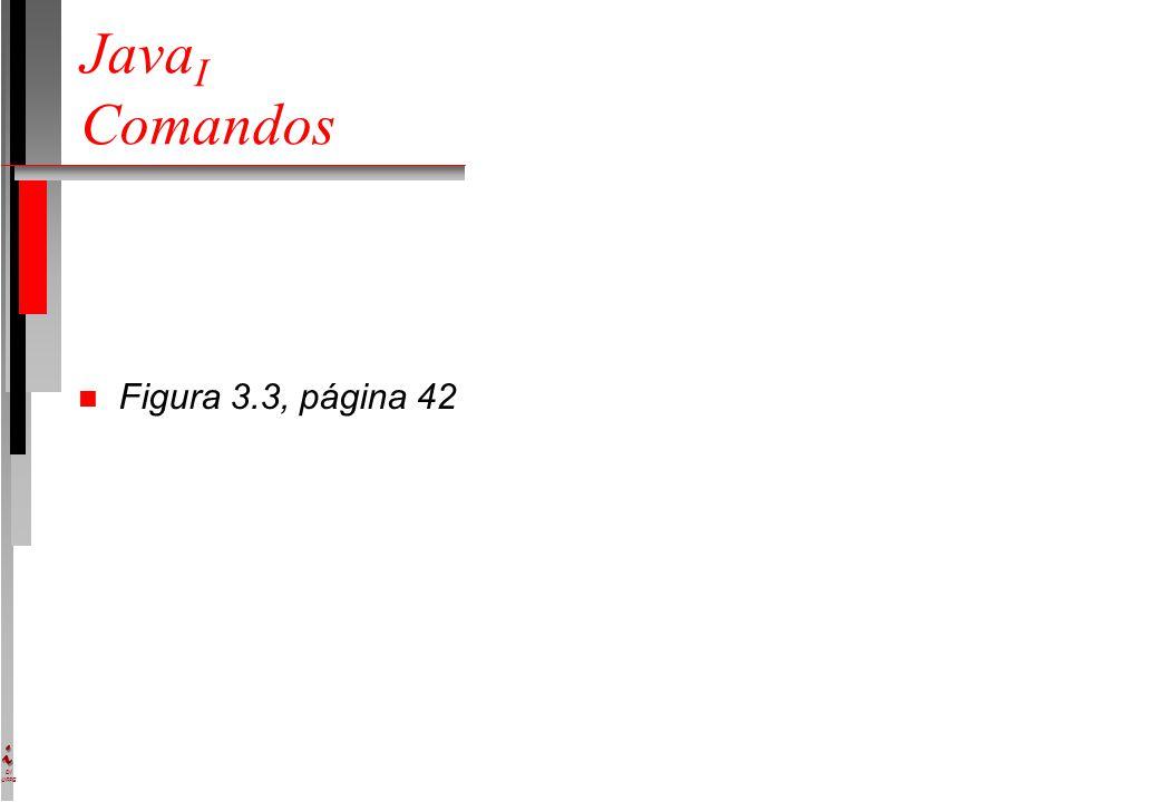 DI UFPE Java I Comandos n Figura 3.3, página 42