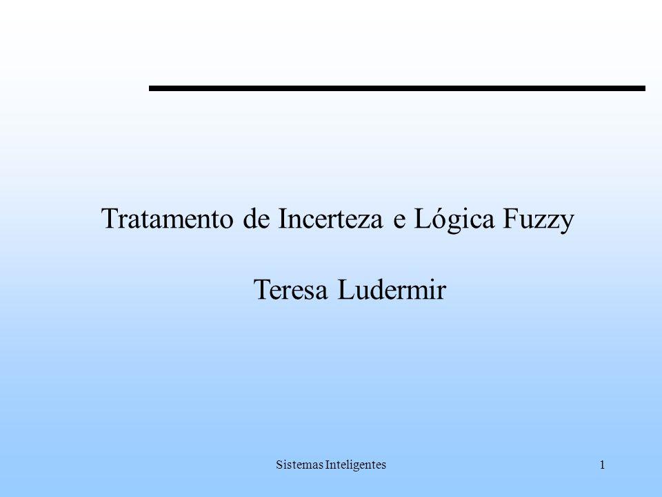Sistemas Inteligentes2 Conteúdo Lógica Fuzzy Incerteza Introdução a Lógica Fuzzy Conjuntos Fuzzy Operadores de Conjuntos Fuzzy Variáveis Linguísticas Lógica Fuzzy Sistemas Fuzzy Raciocínio Conclusão
