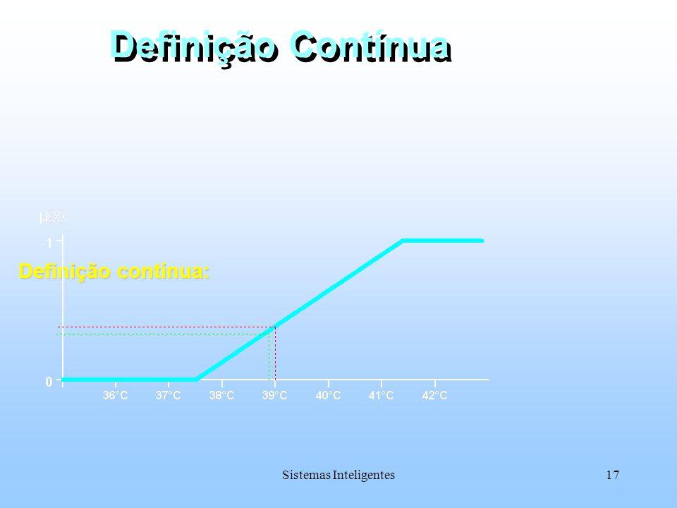 Sistemas Inteligentes17 Definição Contínua Definição contínua: