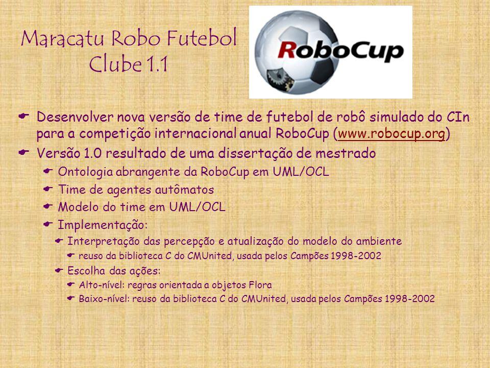 Maracatu Robo Futebol Clube 1.1  Desenvolver nova versão de time de futebol de robô simulado do CIn para a competição internacional anual RoboCup (ww