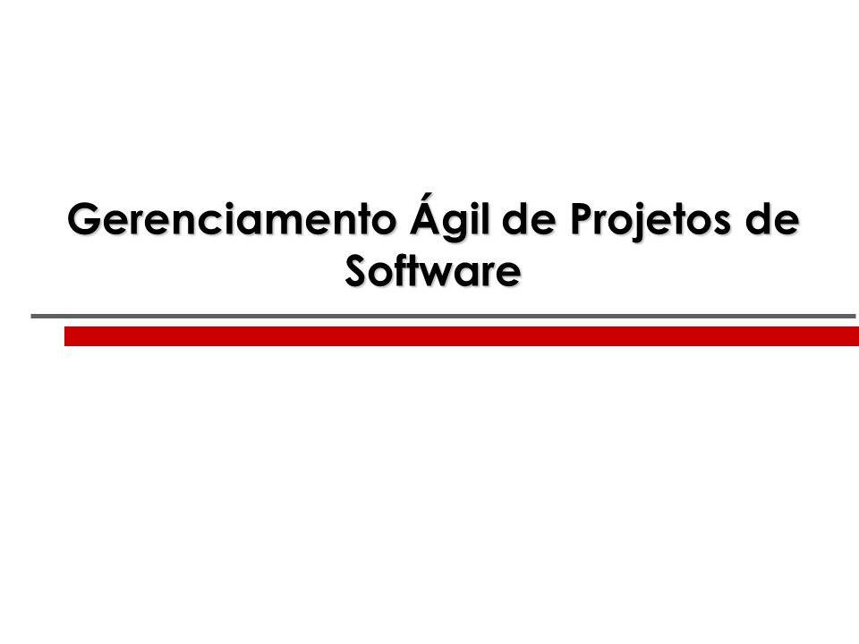 Gerenciamento Ágil de Projetos de Software