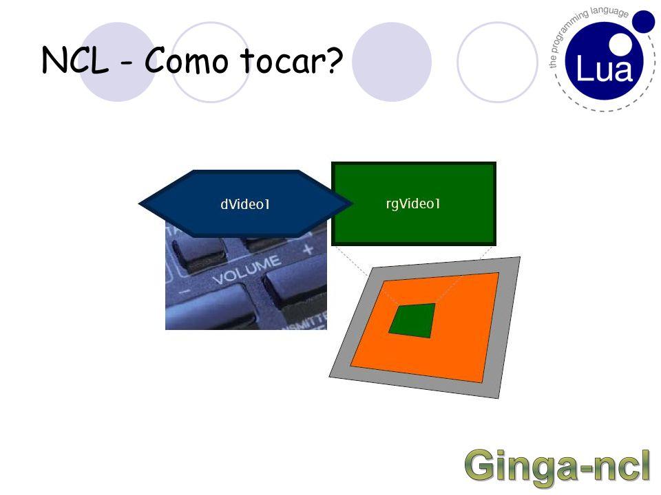 NCL – Como tocar? Definido no head. Parâmetros: transparency freeze...