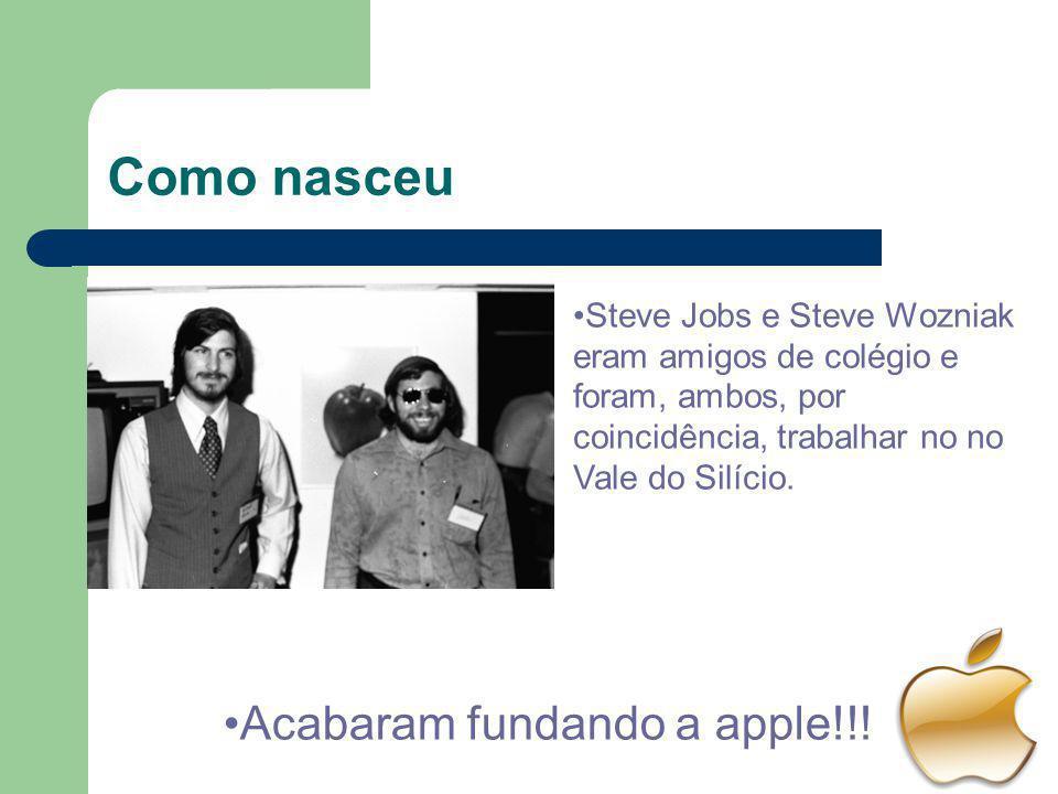 Como nasceu Steve Jobs e Steve Wozniak eram amigos de colégio e foram, ambos, por coincidência, trabalhar no no Vale do Silício. Acabaram fundando a a