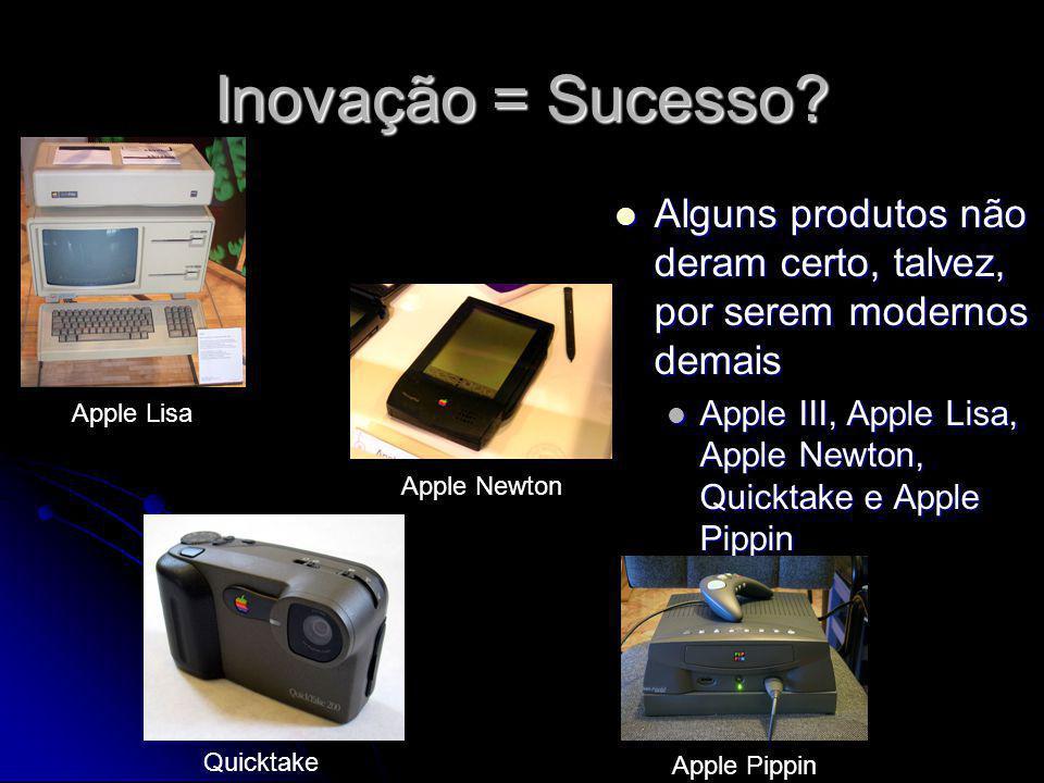 Inovação = Sucesso? Alguns produtos não deram certo, talvez, por serem modernos demais Alguns produtos não deram certo, talvez, por serem modernos dem
