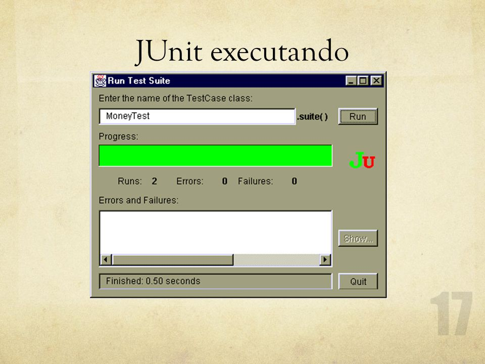 JUnit executando