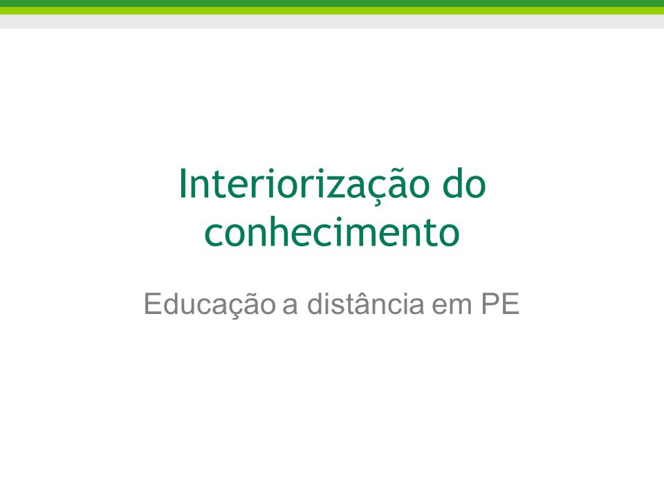 Infra-estrutura de TI em PE: PE MultiDigital (PE-MD)