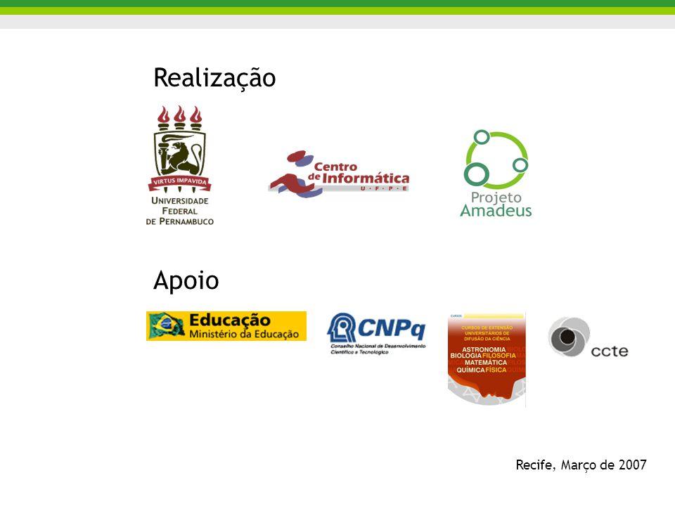 Recife, Março de 2007 Realização Apoio