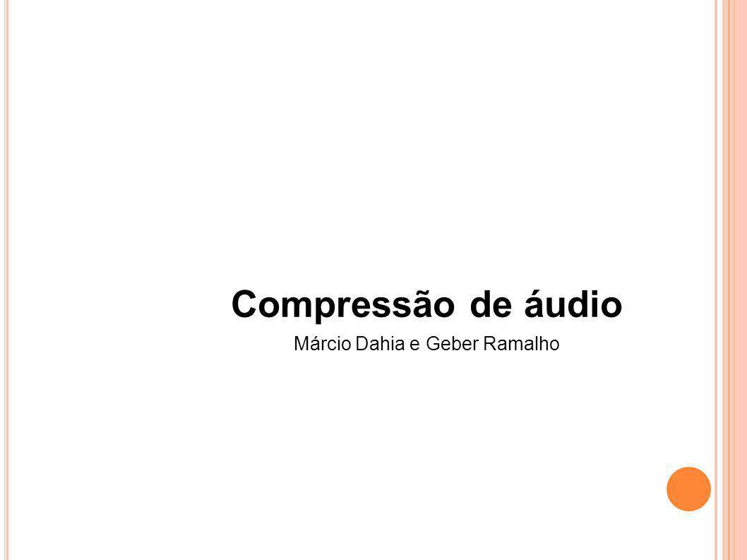 PROCESSO DE COMPRESSÃO MP3 Entrada no formato PCM Processa 1152 amostras por vez por canal Frames são codificados independentemente